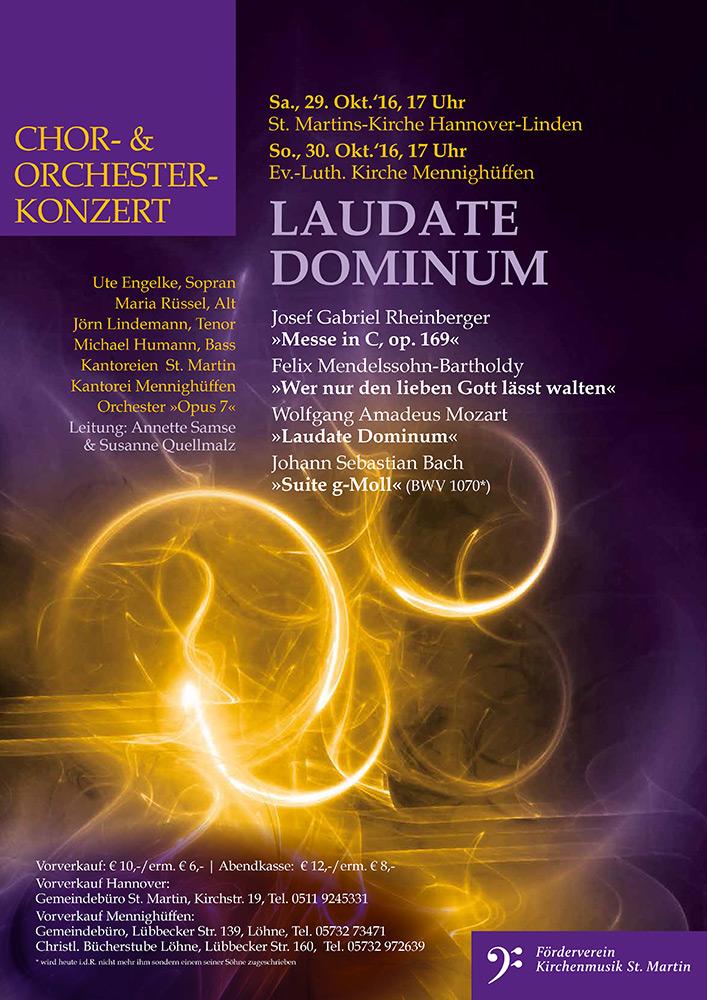 Chor- und Orchester-Konzert »Laudate Dominum«