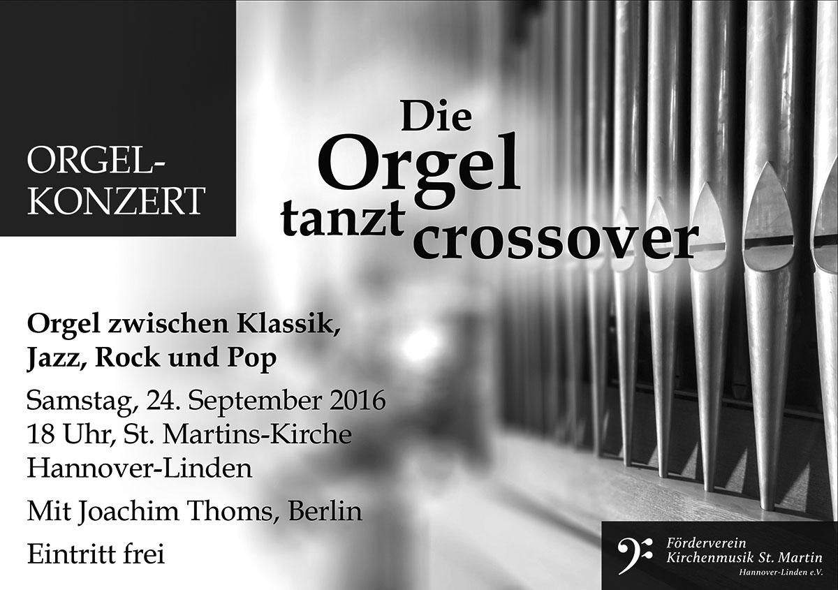 Orgel-Konzert »Die Orgel tanzt crossover«